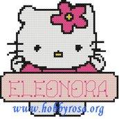 Schema punto croce Hello Kitty + albabeto per nome