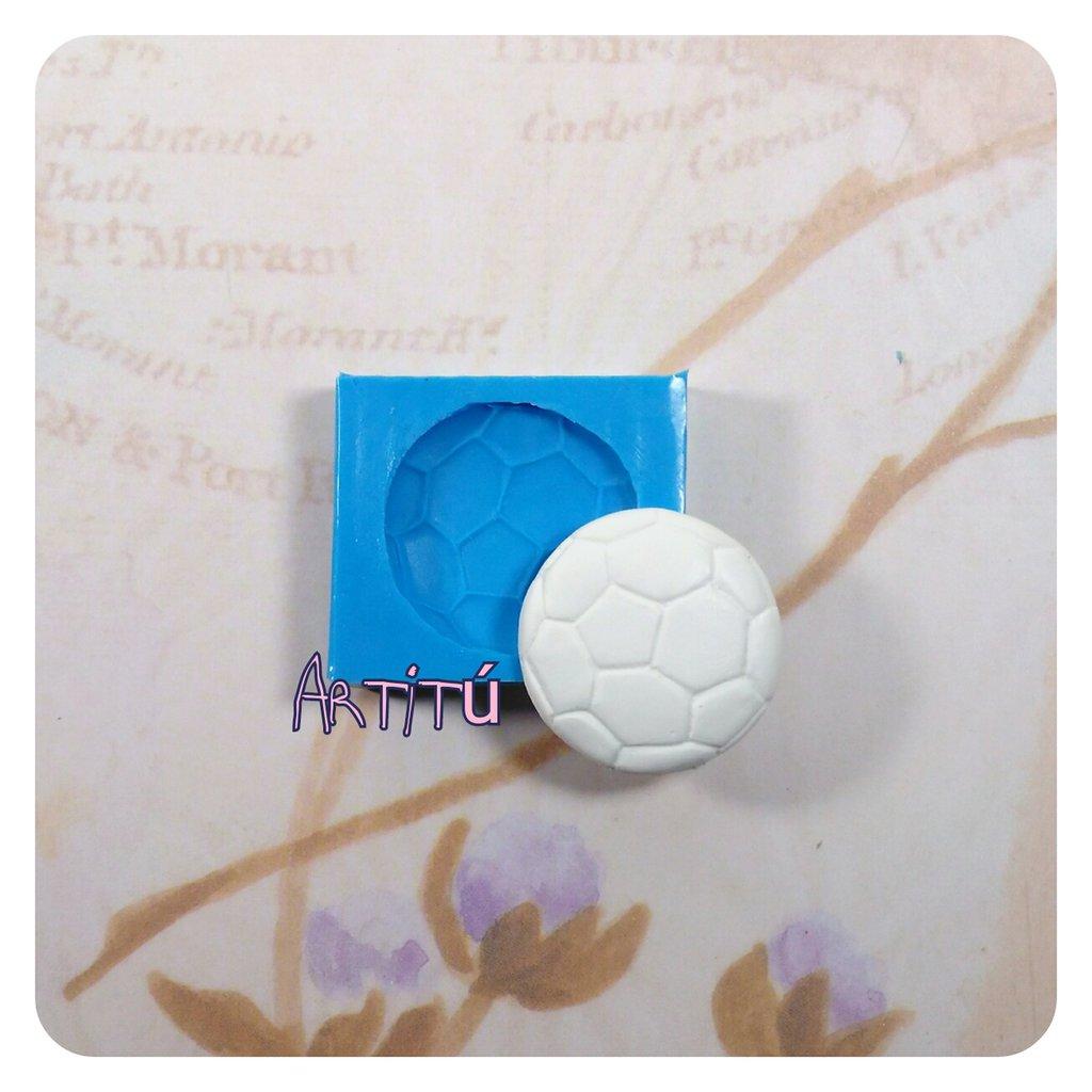Stampo silicone pallone calcio 2,8x2,8cm originale handmade - soccer ball mold