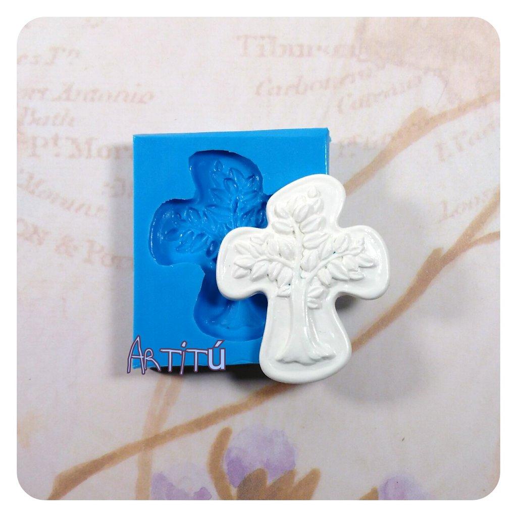 Stampo Albero della vita 4,4x3,7cm stampo in silicone per bomboniere battesimo matrimonio originale handmade