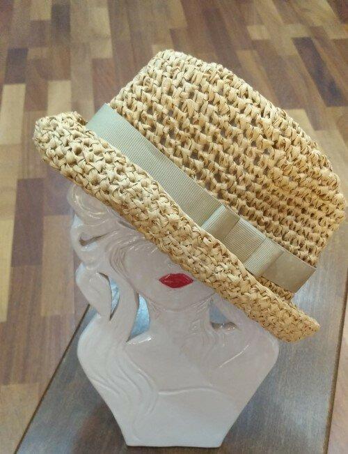 Cappello estivo di rafia naturale