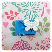 Stampo handmade farfalla 3,8X2,2CM ORIGINALE per gesso, resina per bomboniere e decorazioni stampo in silicone