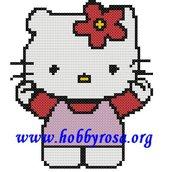 Schema punto croce Hello Kitty