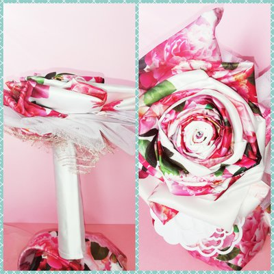 Bouquet di tessuto floreale idea regalo