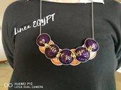 Collana etnica fatta a mano con capsule del caffè - Linea Egypt