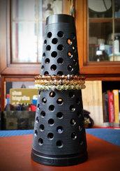Tris bracciali in perle di vetro sfaccettate da 6 mm