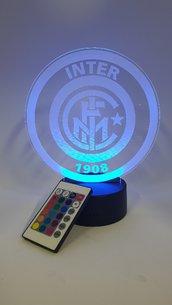 Lampada Led 3d Inter RGB con telecomando
