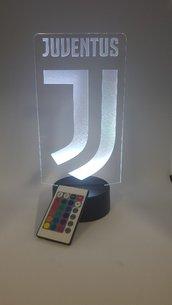 Lampada Led 3d Juventus RGB con telecomando