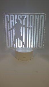 Lampada Led 3d Juventus CR7 RGB con telecomando