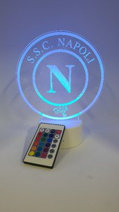 Lampada Led 3d Napoli RGB con telecomando