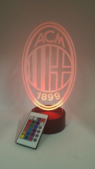 Lampada Led 3d Milan RGB con telecomando