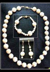Collana, Bracciale e Orecchini Nefertiti (parure)