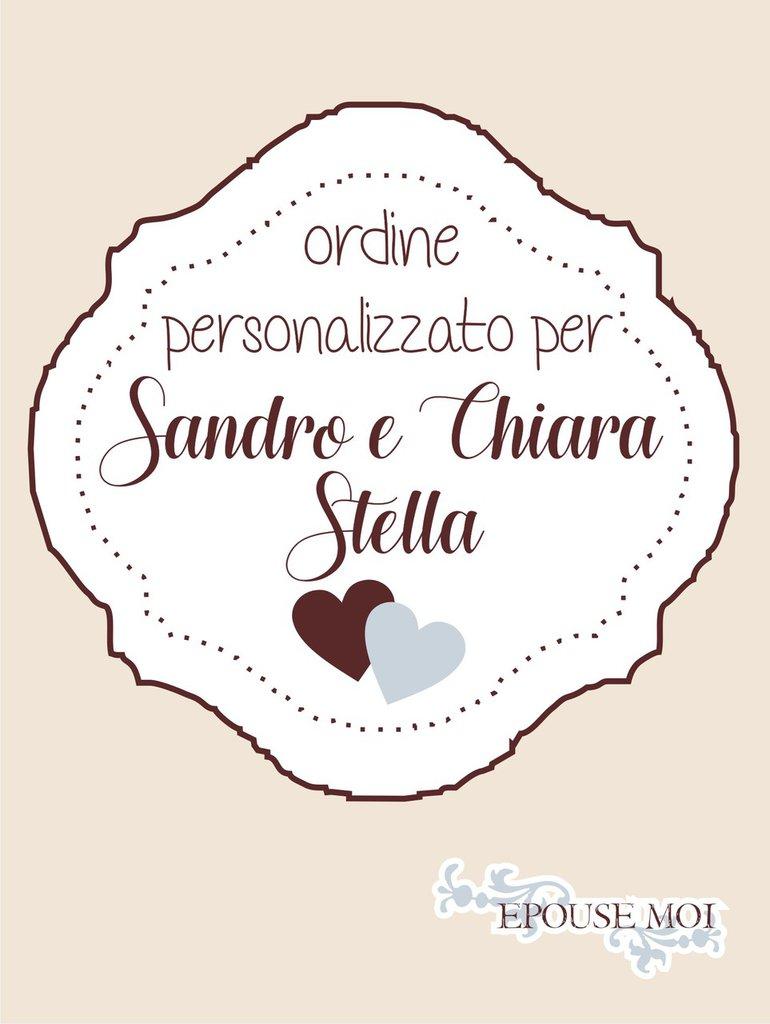 set matrimonio per Chiara e Sandro