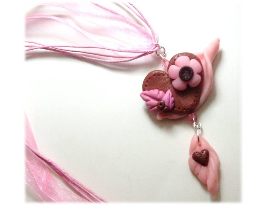 Collana cuore rosa