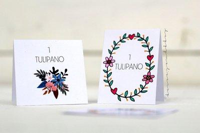 Tableau Mariage floreale, segna-tavolo e segnaposto