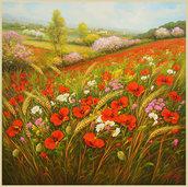 Dipinto olio su tela cm.80 x 80