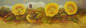 Girasoli olio su tela cm.120 x 40