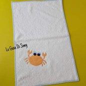 Asciugamano per bambini con granchio arancione