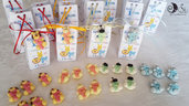 Portaconfetti e bomboniere animaletti lettere giungla compleanno bambini multicolor