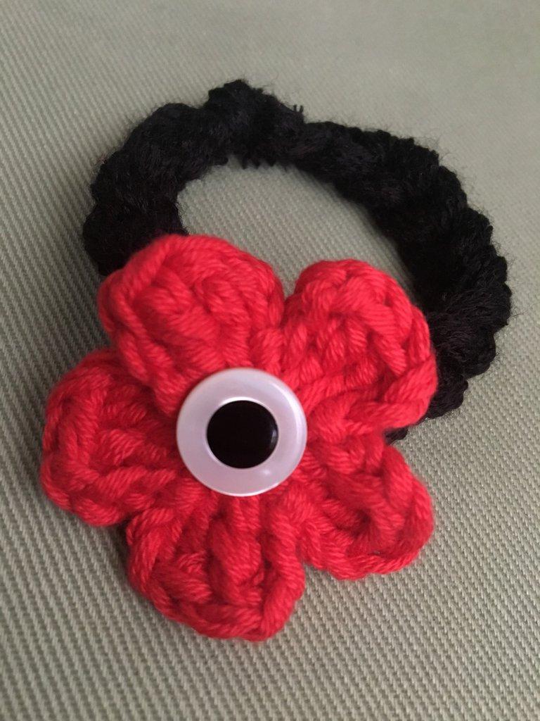 bracciale fiore rosso