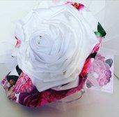 Bouquet sposa  tessuto particolare