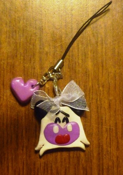 Phonestrap Hello spank in fimo
