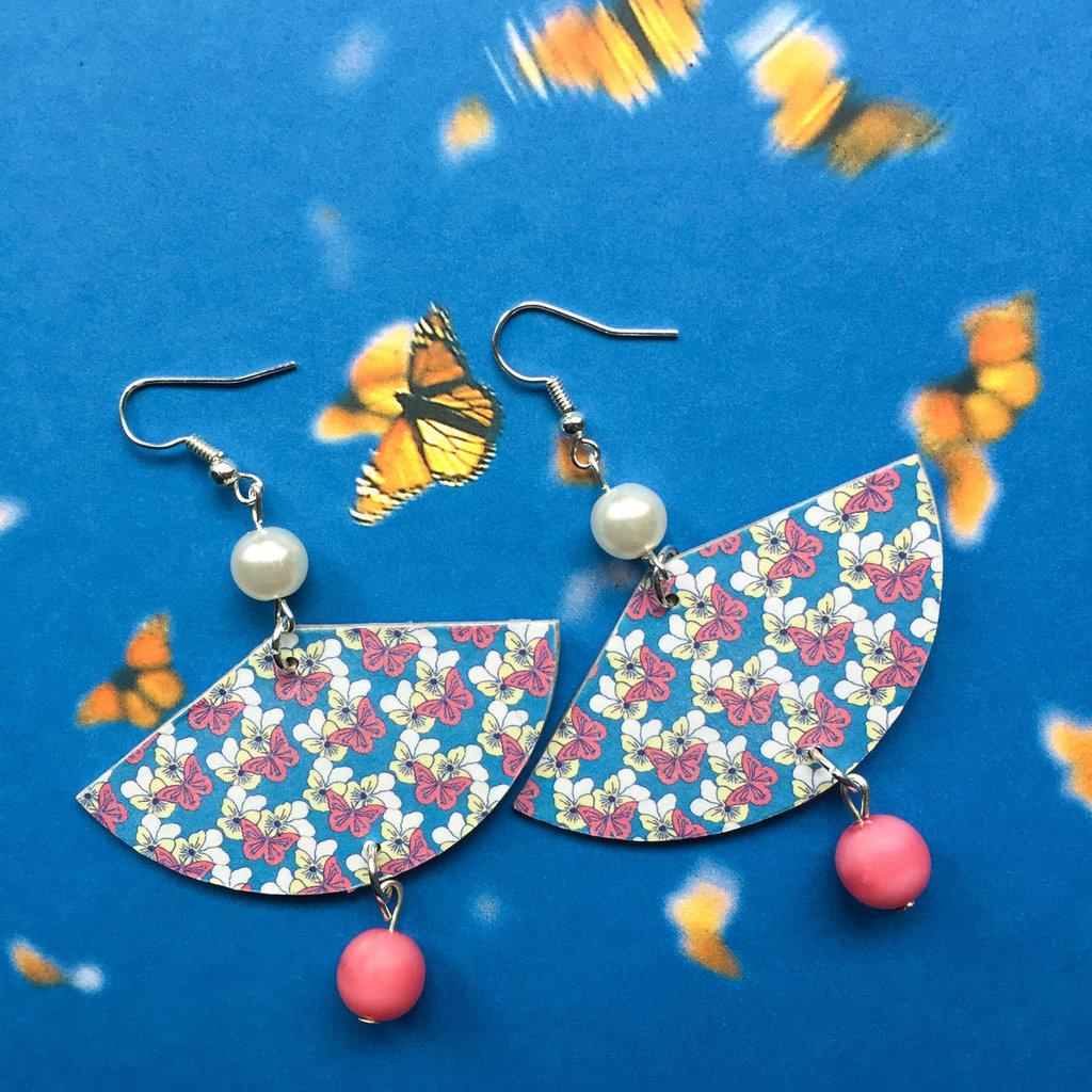 Orecchini Pendenti Fantasia Farfalle