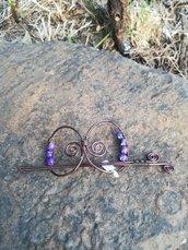Fermacapelli wire in filo di alluminio bronzato