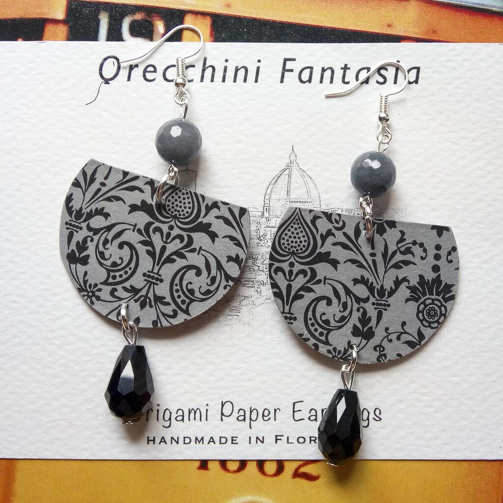 orecchini pendenti fantasia barocca