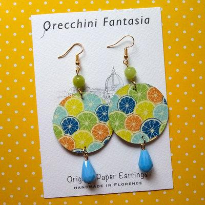 orecchini pendenti fantasia frutta