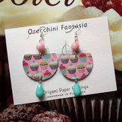 orecchini pendenti fantasia dolcetti cupcakes