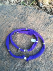 Bracciale in tessuto elastico viola