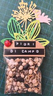 Sacchettini cerimonia con semi di fiori di campo