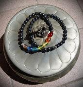 Coppia bracciali perle vetro e acciaio