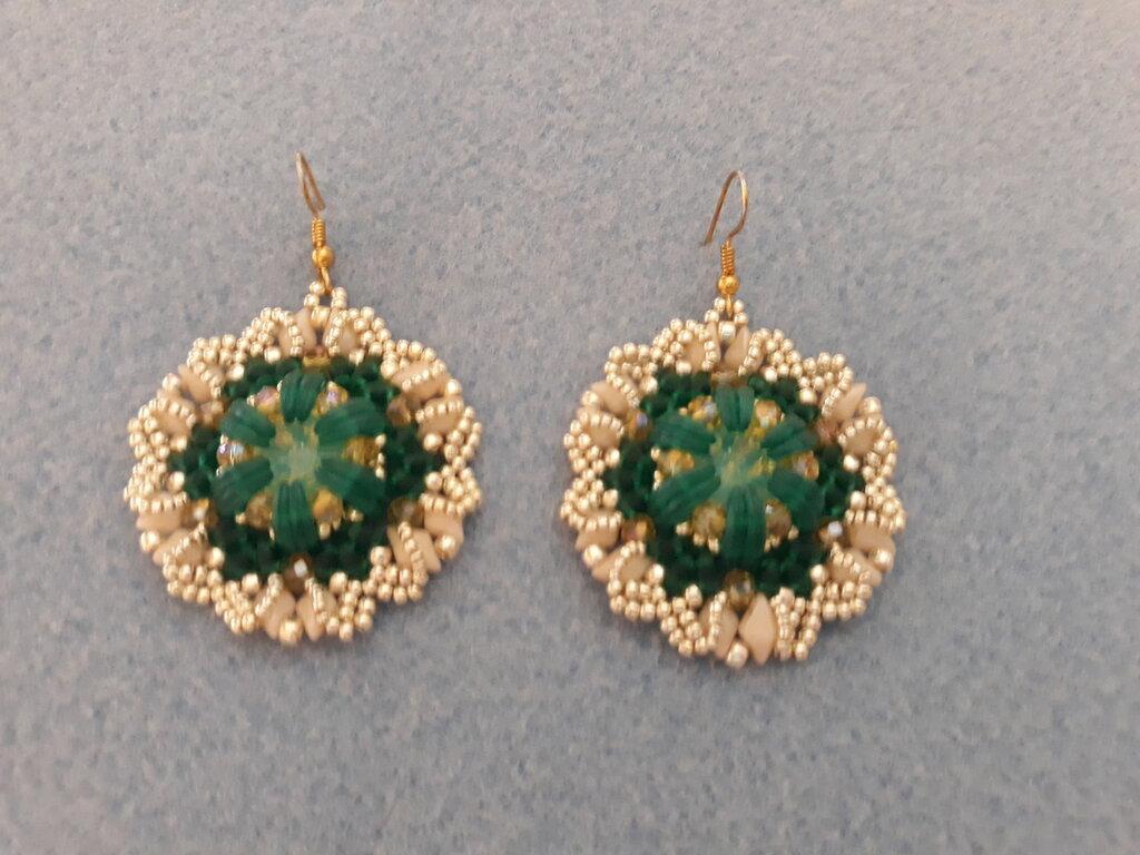 Orecchini eleganti con diamonduo