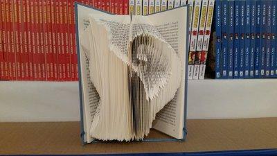 Libro scultura  gatto