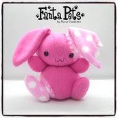 Pupazzo Lunar Bunny Rosa - Fanta Pets by Nixie Creations