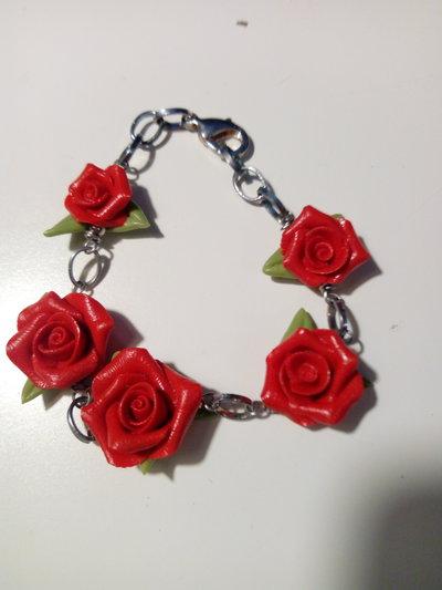Braccialetto con rose