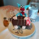 The kitten Glutton § Il gattino Ghiottone § Hand Knitted (crochet) Toys