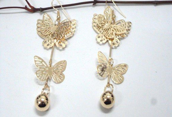 orecchini con farfalle
