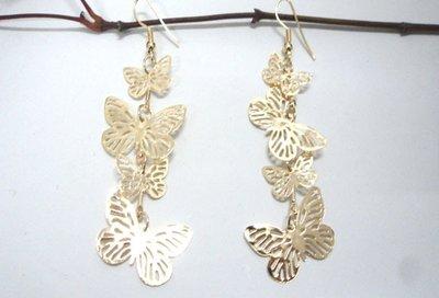 orecchini farfalle pendenti