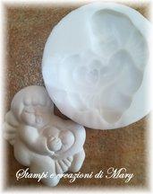 Stampo angelo con cuore in silicone