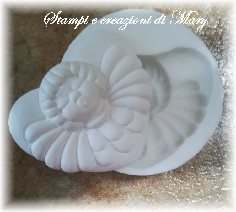 Stampo cuore angelo  in silicone