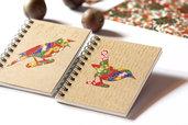 TACCUINI (coppia) decorati con carta pregiata - rilegatura a spirale metallica - 2 notes venduti insieme