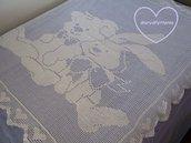 Schema PDF - Copertina a filet per bimbi - copertina traforata - copertina con cuori