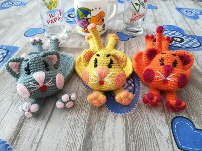 Cat coasters § Sottobicchieri gatti § Hand Knitted (Crochet) Toys