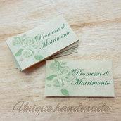 Bigliettini Promessa di Matrimonio