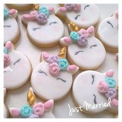 Biscotti decorati a tema unicorno
