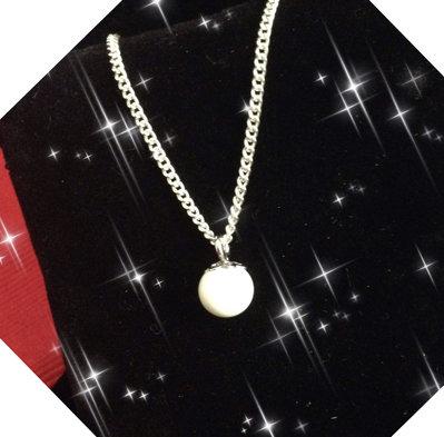 Collana argento e  perla di latte