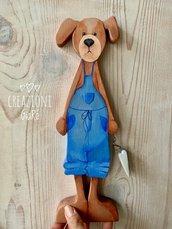 Cagnolino in legno massello
