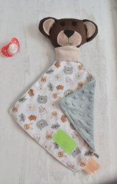 Copertina da compagnia animaletto doudou neonato